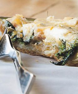 Rustic Spinach Tart with Siglino & Goat Cheese