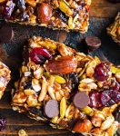 Energy bars with  nuts and dried plums