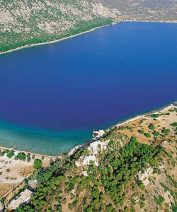 Lake Vouliagmeni and the Temple  of Hera