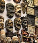 The ancient theatrical masks