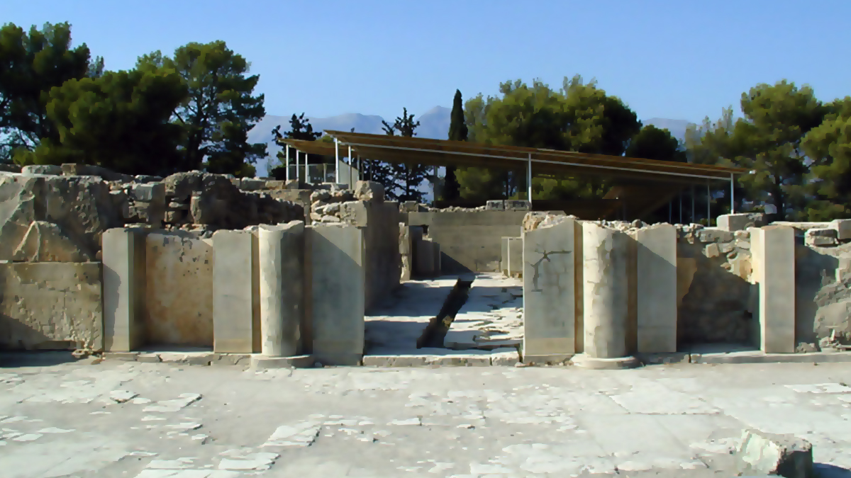 The Entrance to Phaistos