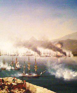 The Navarino Bay of Pylos